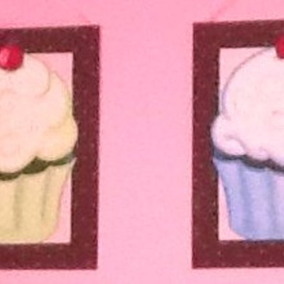 "8"" x 10"" cupcake (personalized) canvas art"