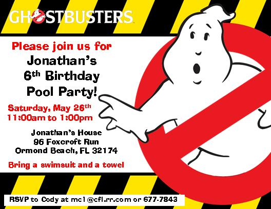 The Notecard Lady 12 Printed Ghostbusters Invitations Online