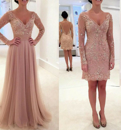 Long Lace Prom Dress