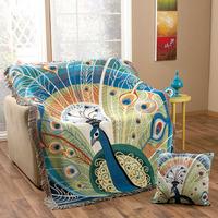Peacock 17 Accent Toss Throw Pillow Bed Sofa Home Decor