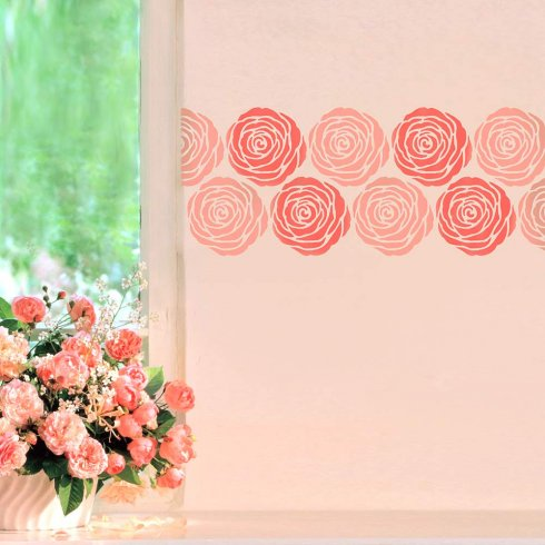 Rose Wall Stencil