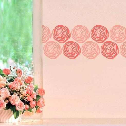 Rose Wall Art Stencil - MEDIUM - DIY Wall Design By Cutting Edge ...
