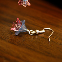 Balsa's Blue and Pink Lucite Drop Earrings