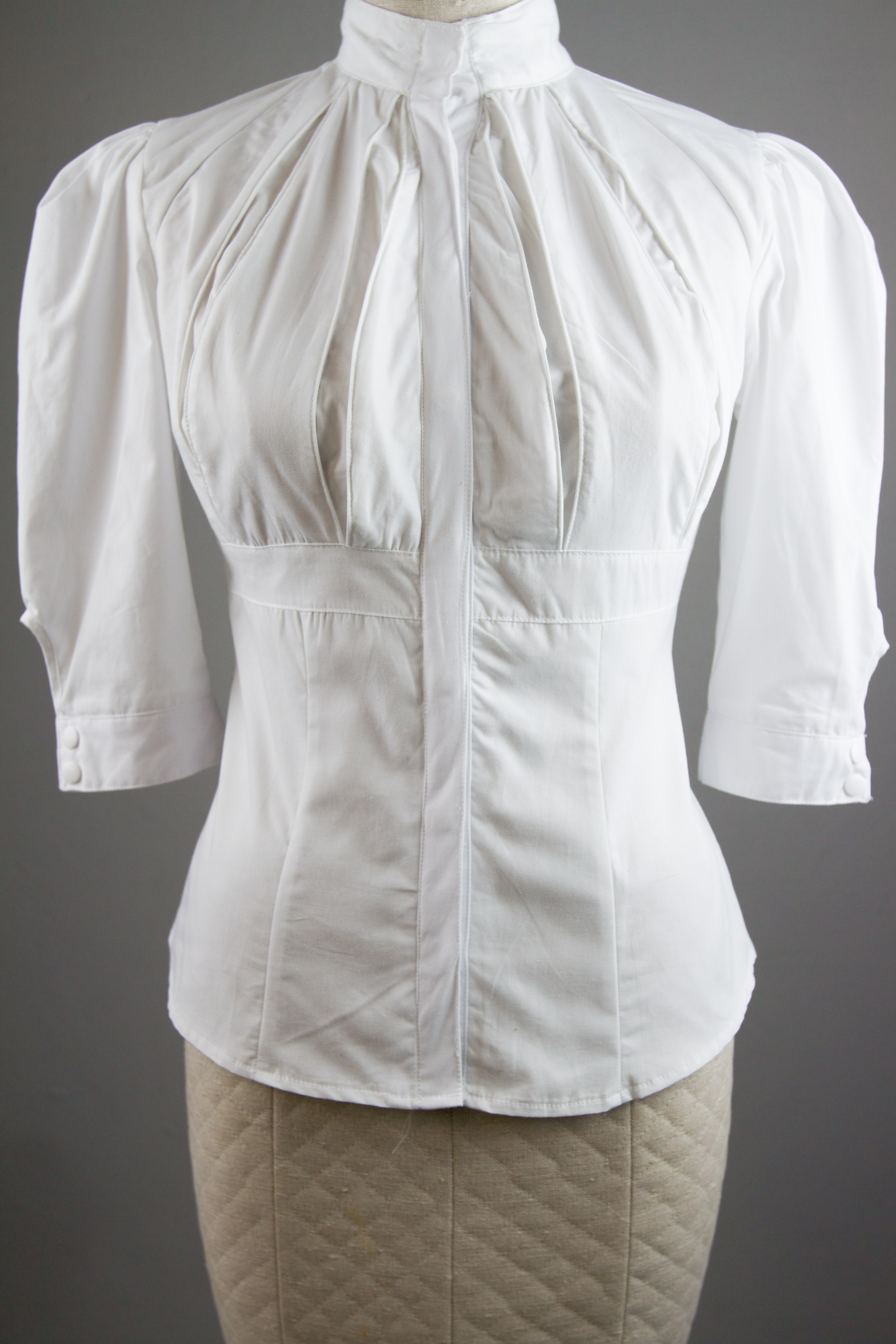 White Steampunk Blouse 114