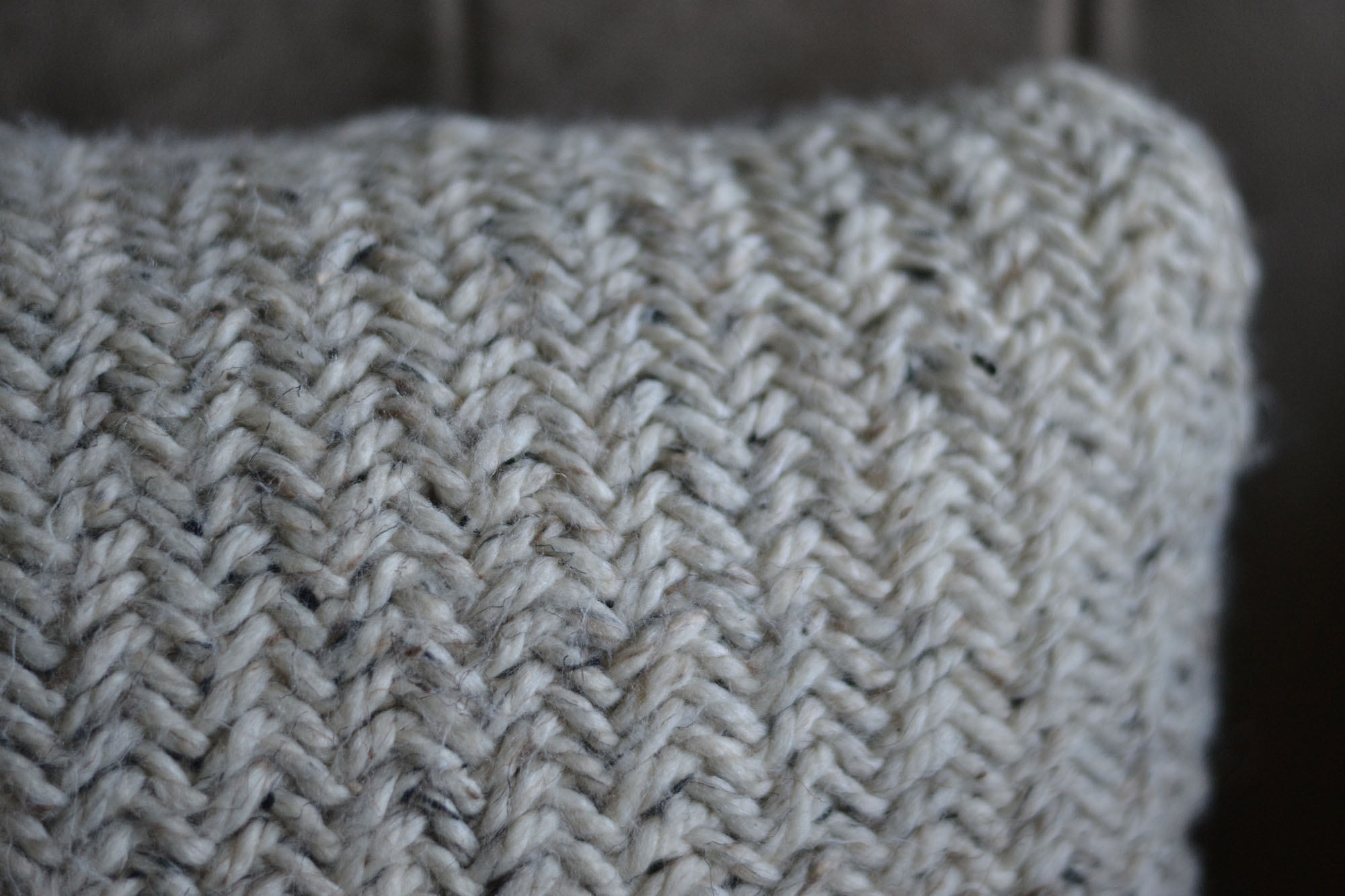 Herringbone Knitted Decorative Pillow · Hygge & Wool · Online Store ...