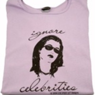 """ignore celebrities"" t-shirt"