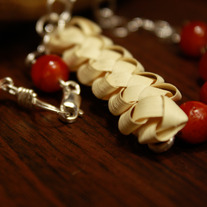 Seven, 6, Three Woven Palm and Gemstone Necklace