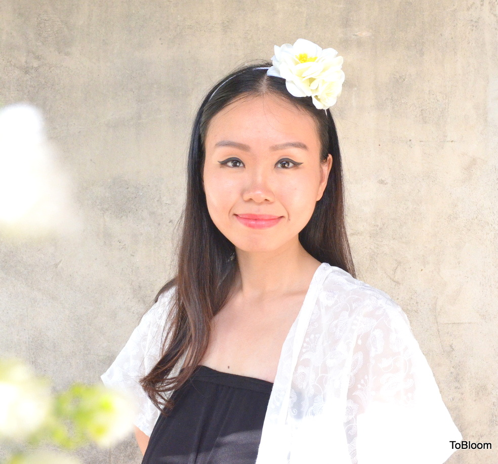 White Flower Headband Music Festival White Wedding Garden Party