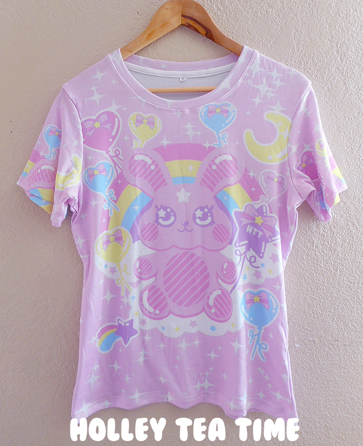 Bubblegum Bunny All Over Print T Shirt Made To Order