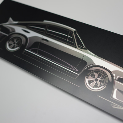 Porsche 911 aluminum print - 30 piece limited run