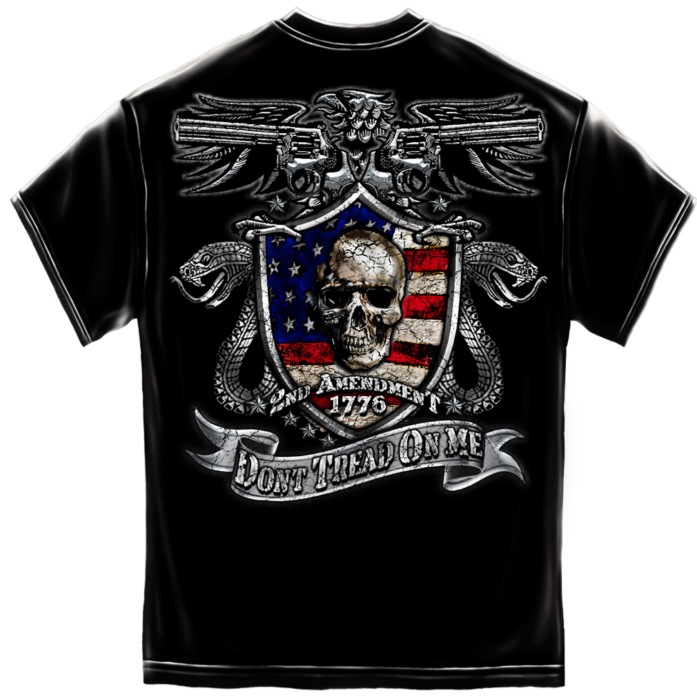 New hot trendy official 2nd admendment don 39 t tread on for Shirts with graphics on the back