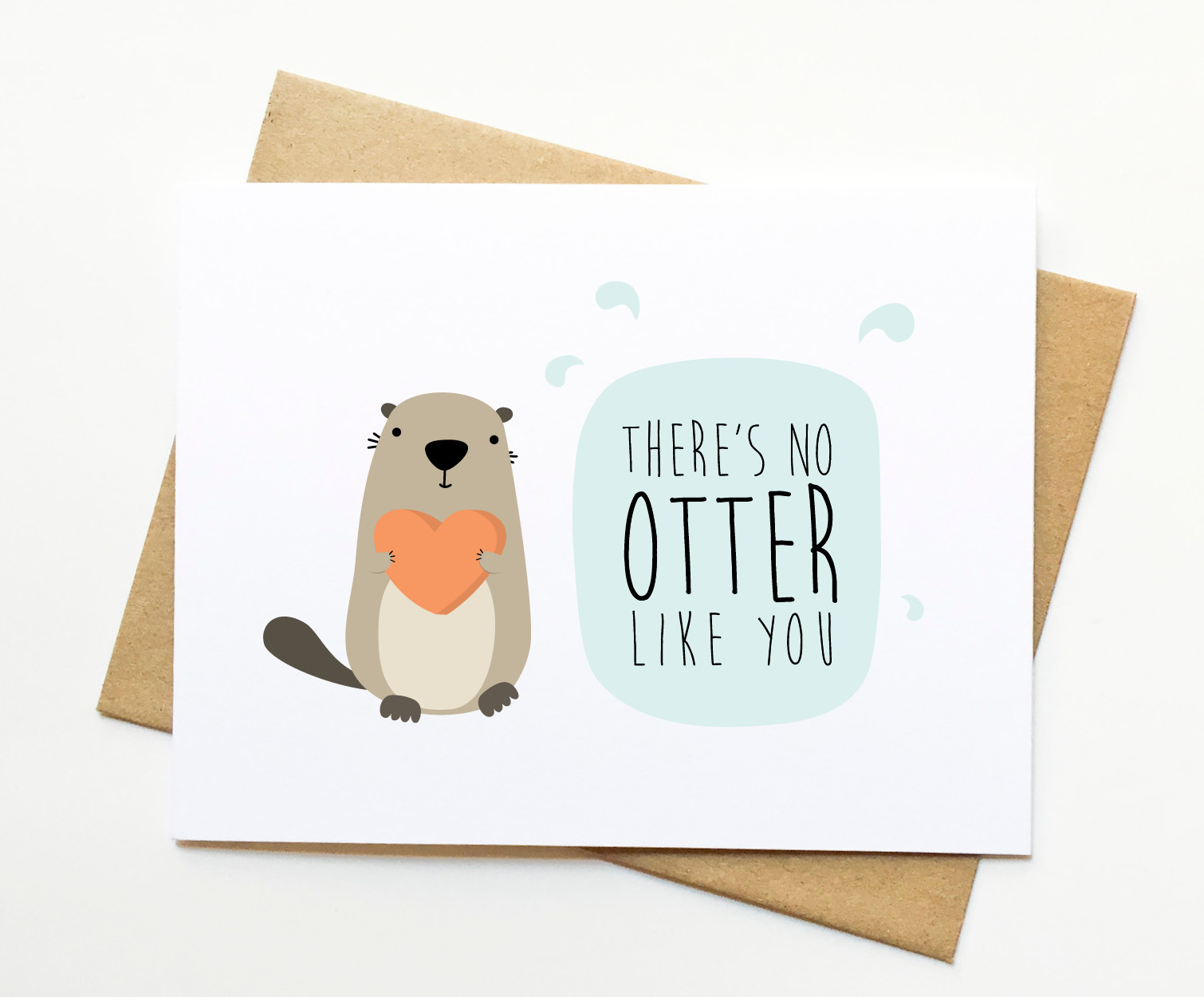 No Otter Like You Valentine Funny Love Pun Card · Le ...