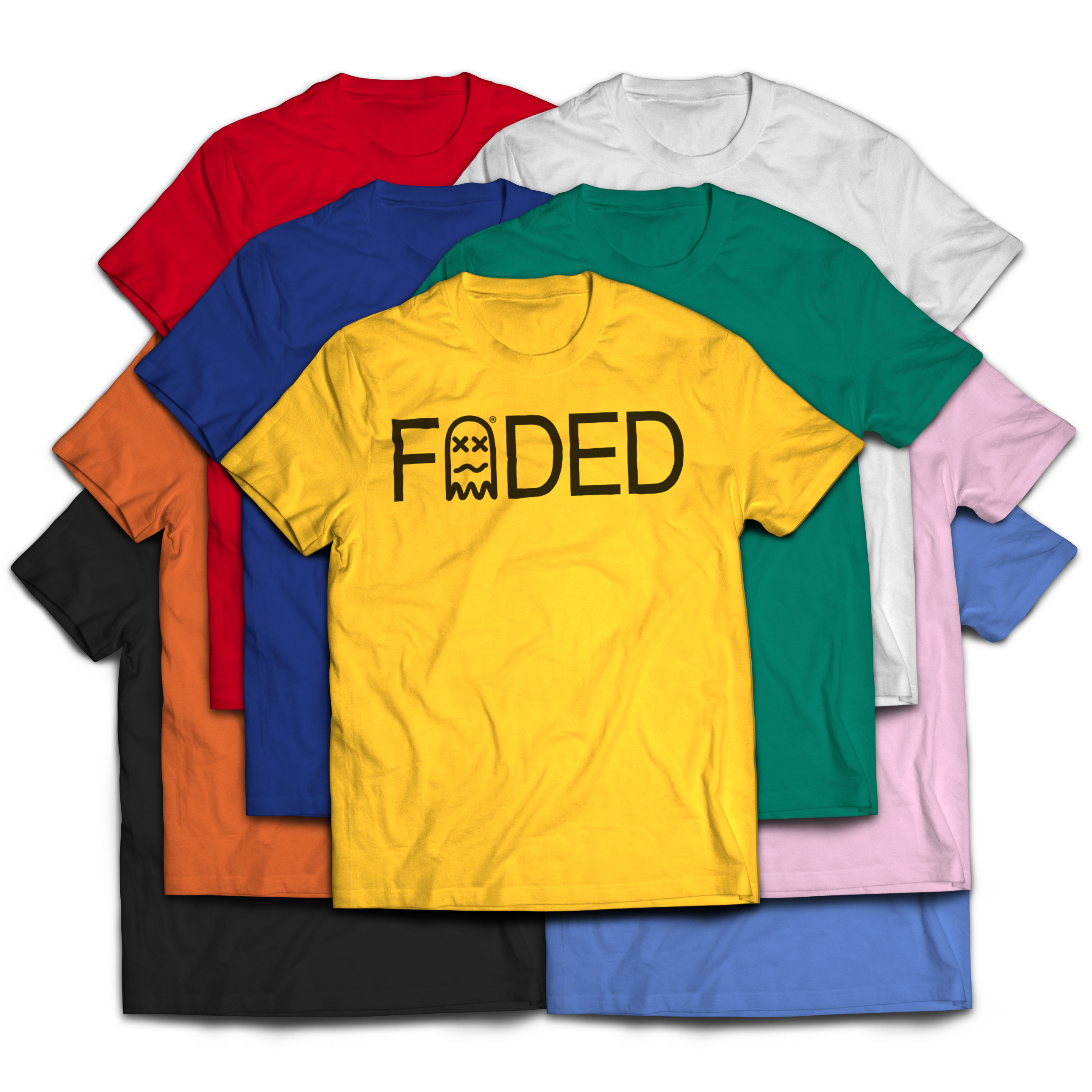 Faded stamp tee 9 colors for Faded color t shirts