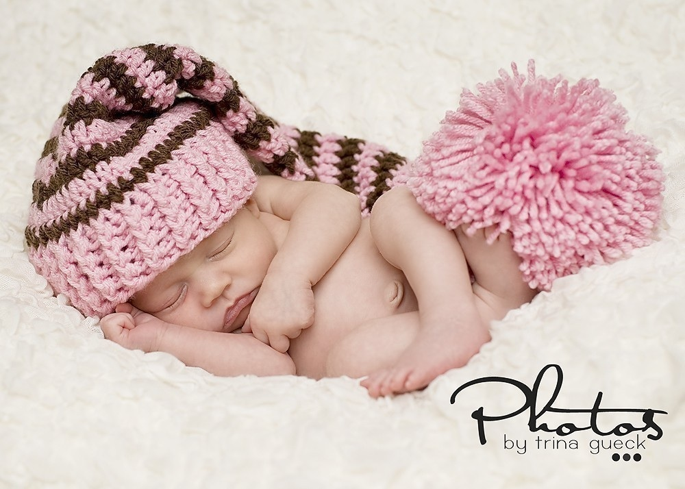 Crochet baby elf hat perfect for pictures that will last a lifetime