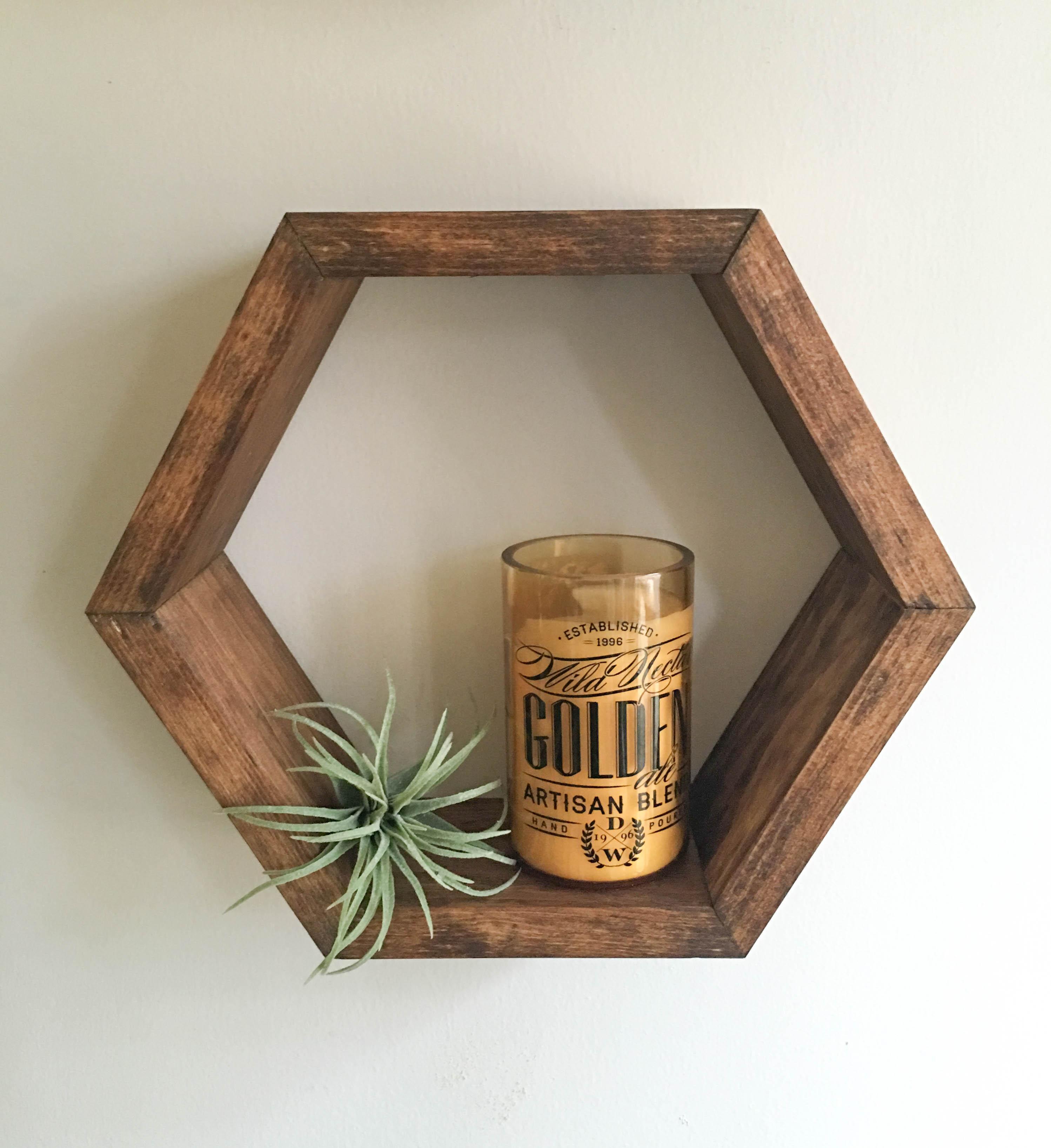 Green Shelves Canisters Diy Island Wood Nailed To: Honeycomb Shelf