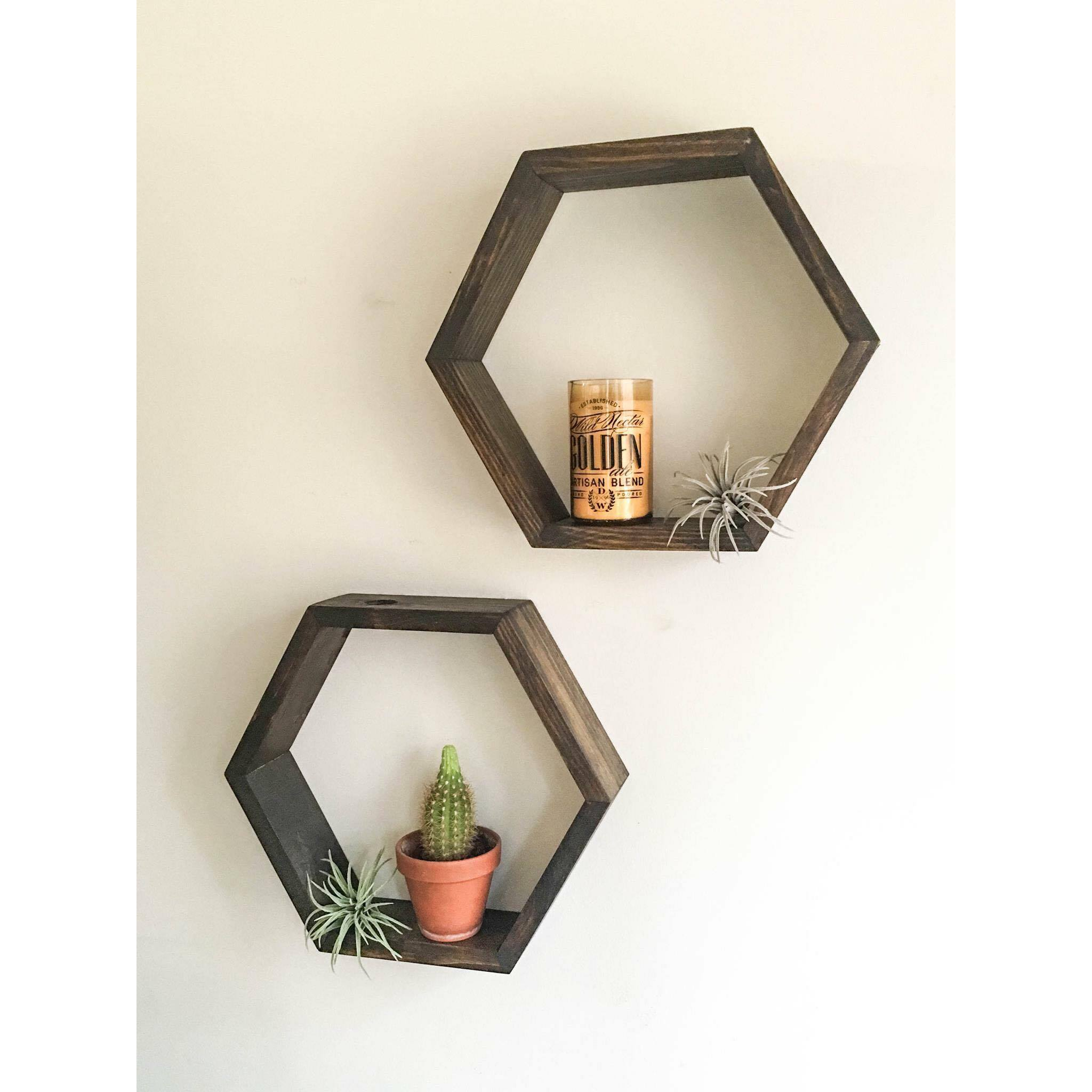 Honeycomb shelf hexagon shelf crystal shelf shadow box honeycomb shelf hexagon shelf crystal shelf shadow box wood shelf floating amipublicfo Gallery