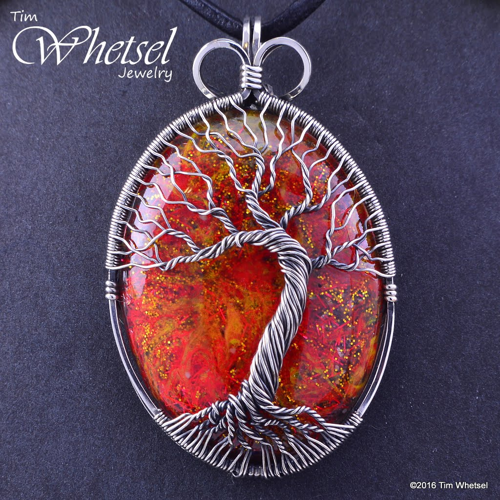 Sterling Silver Tree of Life Wire Wrapped Orgonite Pendant ...