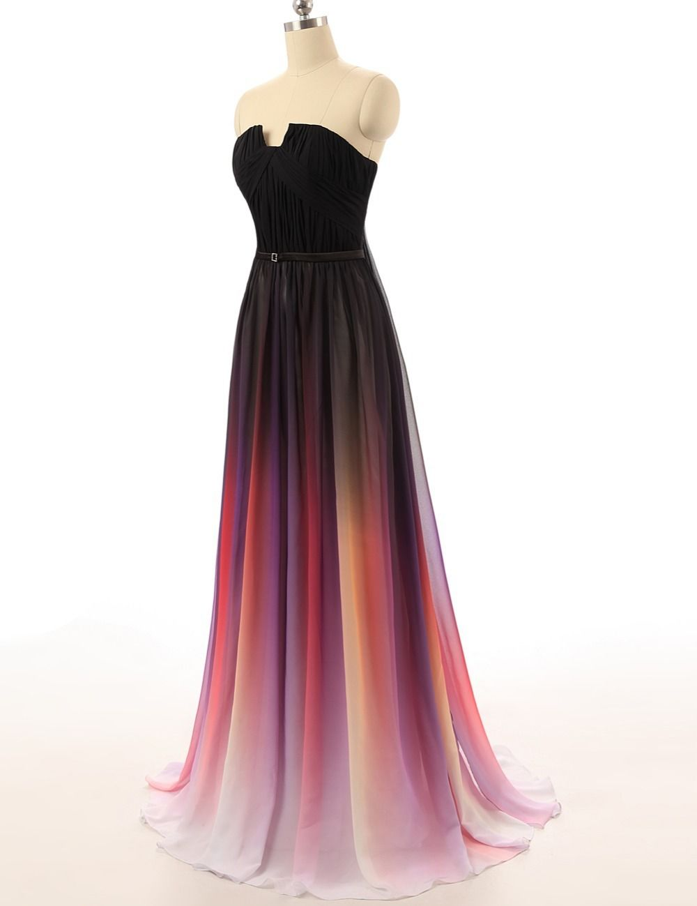 Ombre Prom Dresses Chiffon Prom Dresses Long Prom