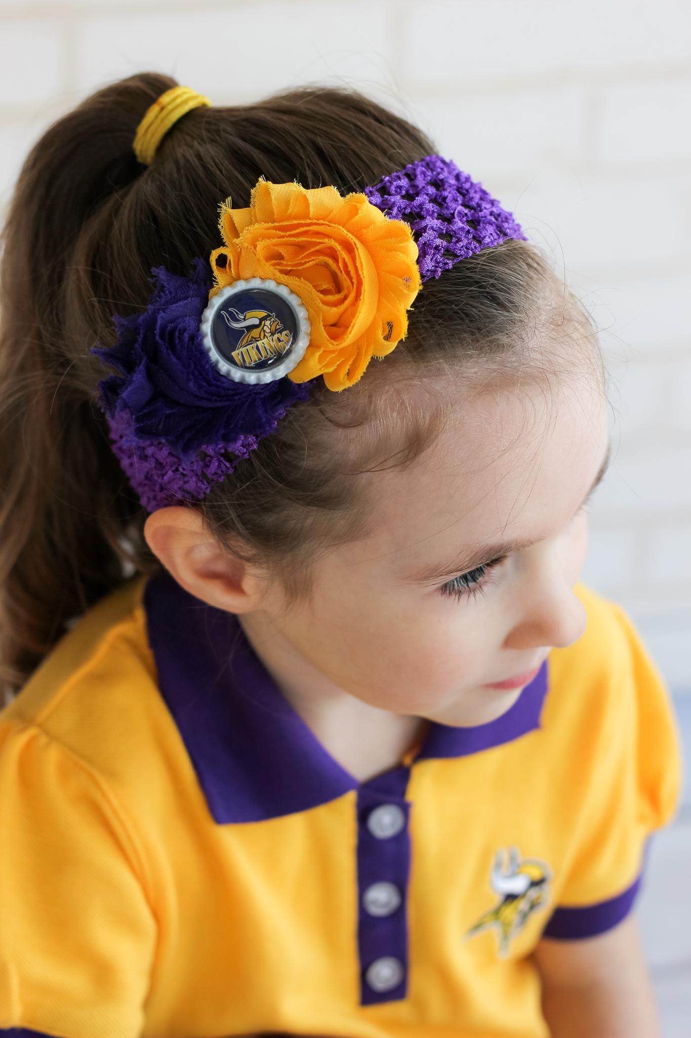Minnesota Vikings Headband Girls Headbands Baby Toddler Football