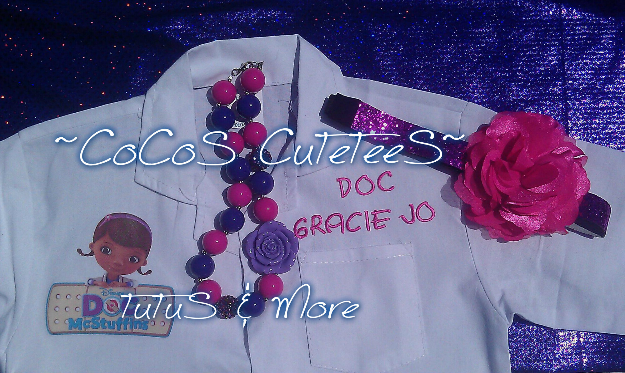 f364fcf7af1c Doc McStuffins Lab Coat-Kids Dr Coat-personalized Dr coat · ~CoCoS ...