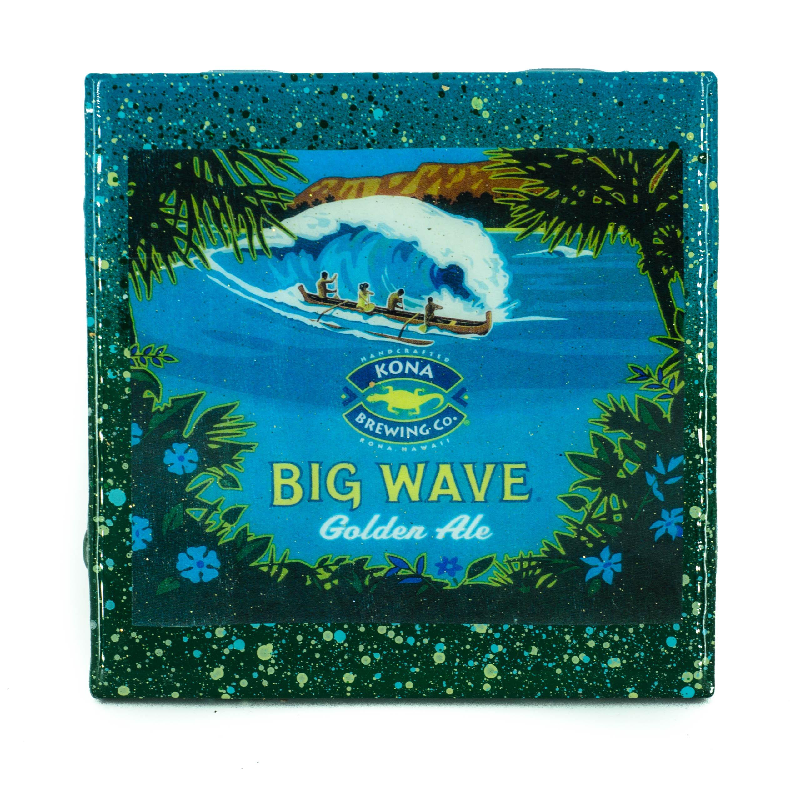 Stella Divina * | Handmade Coaster Kona - Big Wave craft beer label ...