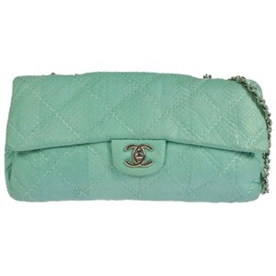 Chanel python quilted shoulder bag
