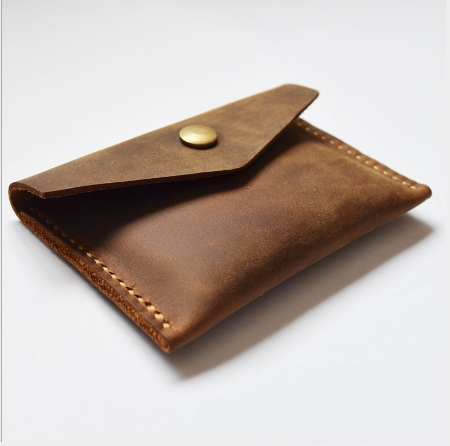 genuine leather handmade mini miniature mens wallet money