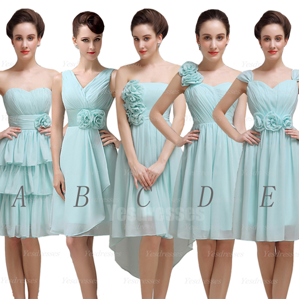 Blue bridesmaid dresses, short bridesmaid dresses, mismatched ...