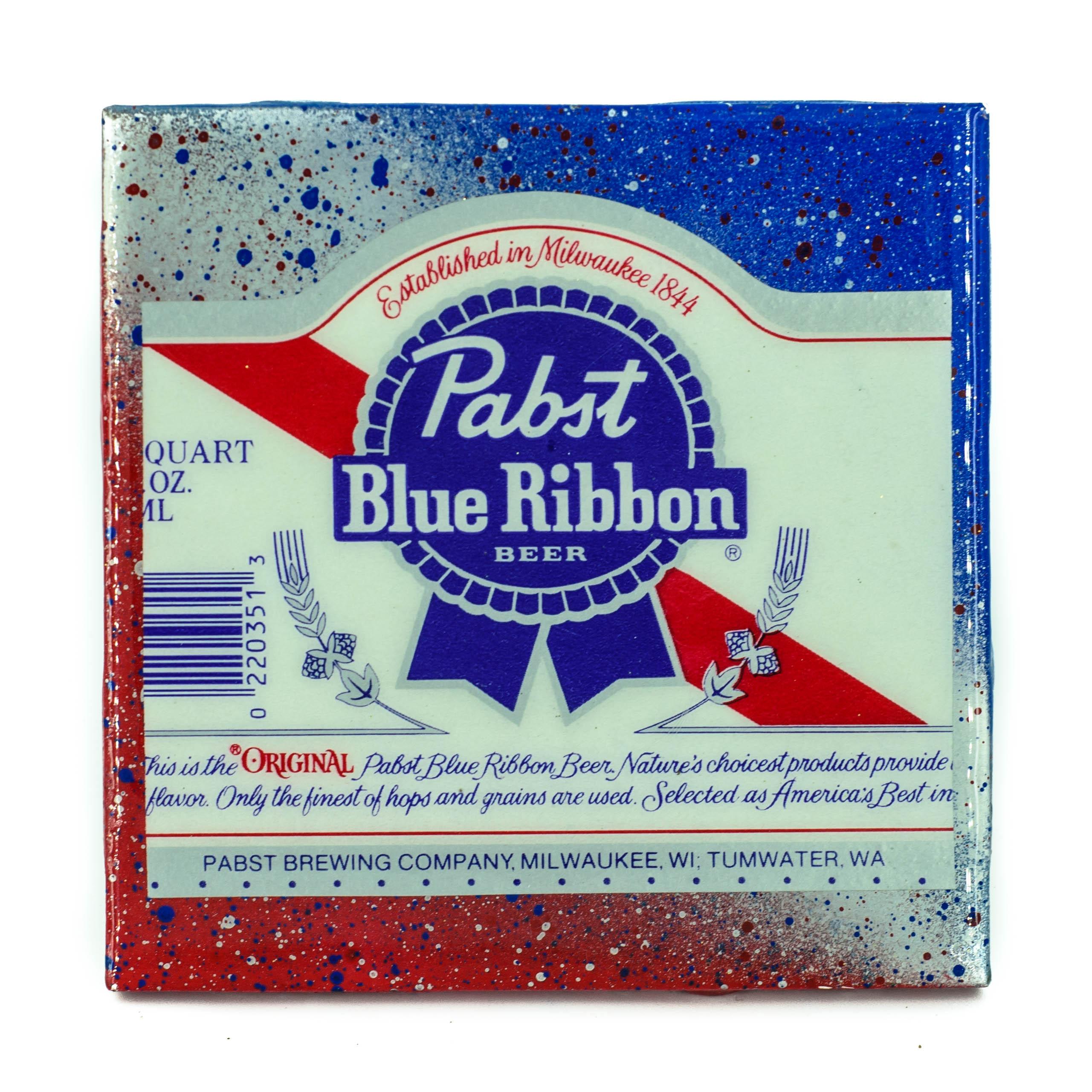 Stella Divina * | Handmade Coaster Pabst - Blue Ribbon craft beer ...