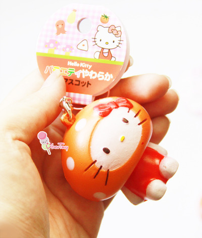 Squishy With Tag : Hello Kitty Orange Costume Squishy (with Tags) ? Uber Tiny ? Online Store Powered by Storenvy