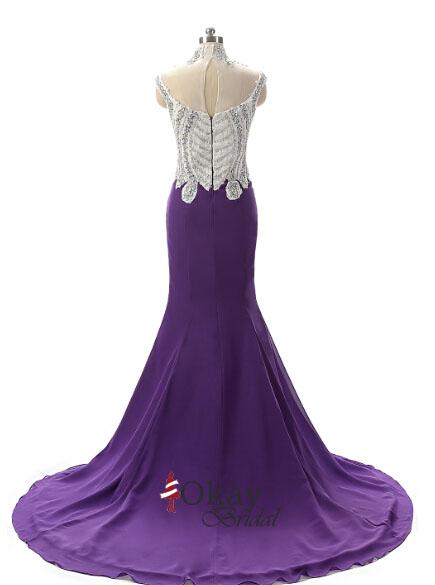 Purple Prom Dress,Off Shoulder Prom Dress,Cheap Prom Dress,Mermaid ...