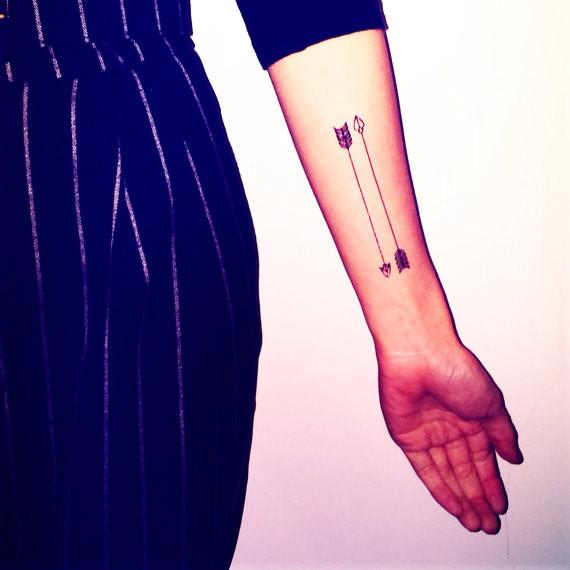 Set Of 8 Xo Arrow Tiny Heart Anchor Temporary Tattoo Fake Tattoo