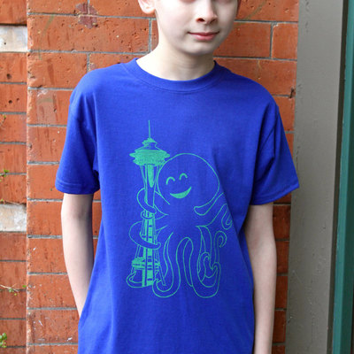 Seattle shirt, gift for kids, seahawks shirt, sounders t shirt, octopus shirt, kids shirt, graphic tee, boys tee, girls tee, seattle gift