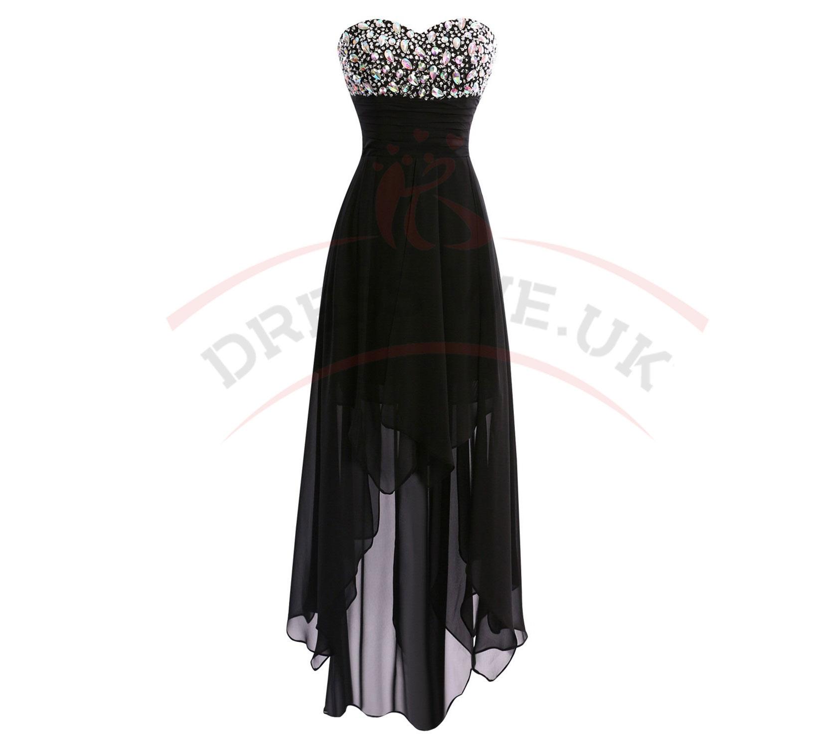 Elegant Long Party Dresses,Chiffon Party Dresses,High Low Party ...