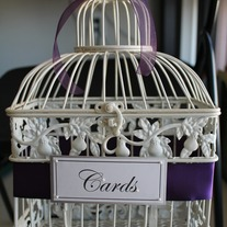 Vintage Style Shabby Chic Wedding Card Holder Bird Cage
