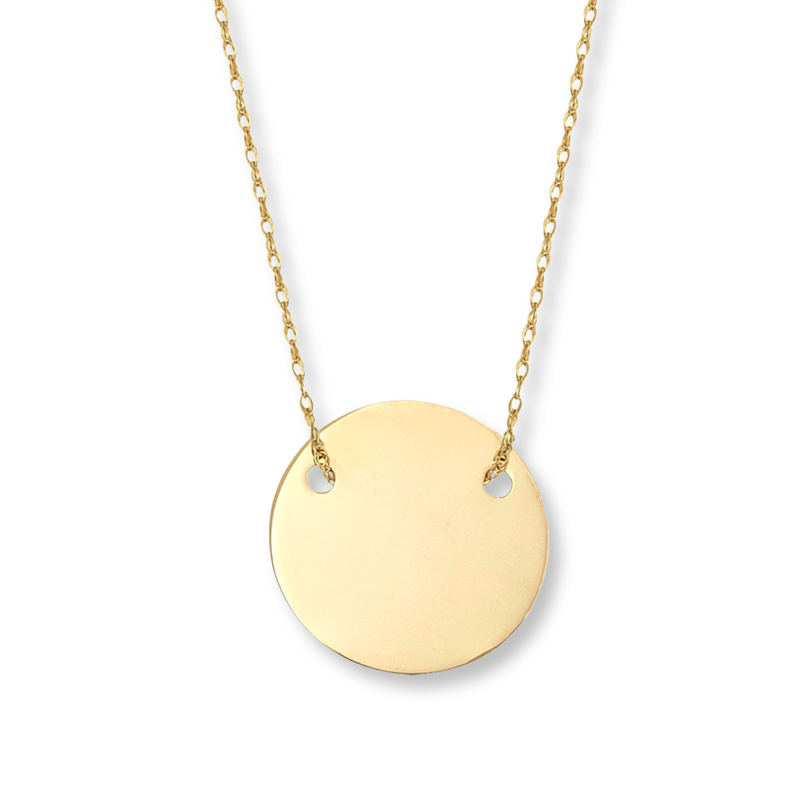 Sungirl gold plated disc necklace gold plated disc necklace thumbnail 1 aloadofball Gallery