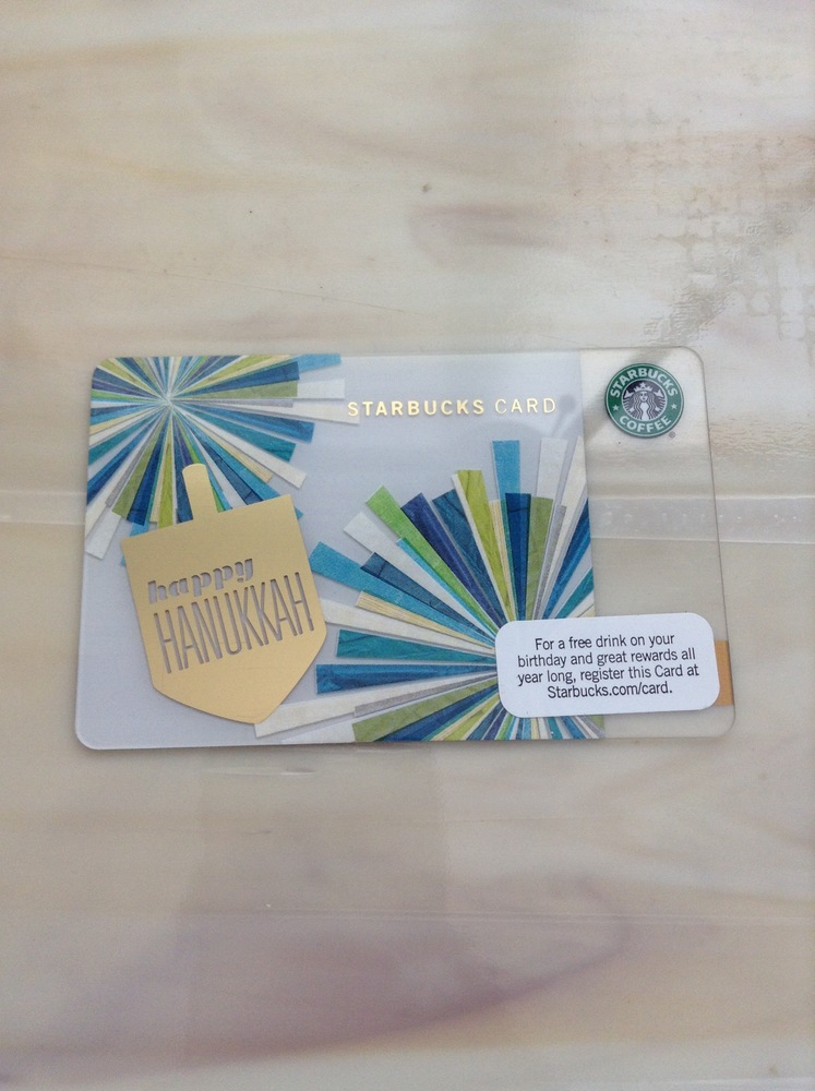 2010 Happy Hanukkah Card My Sbux Collection Online Store Powered