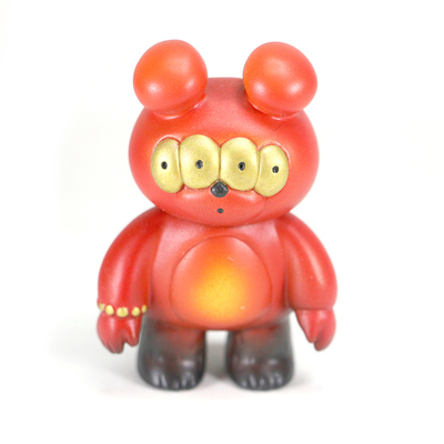 Zkt art custom red matthew bear gashapon