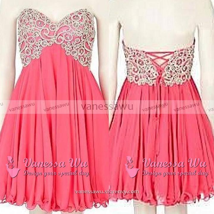 Perfect Sweetheart Bridesmaid Dresses, Hot Pink Empire Bridesmaid ...