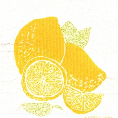 Sitruuna lemon, finnish dish cloth