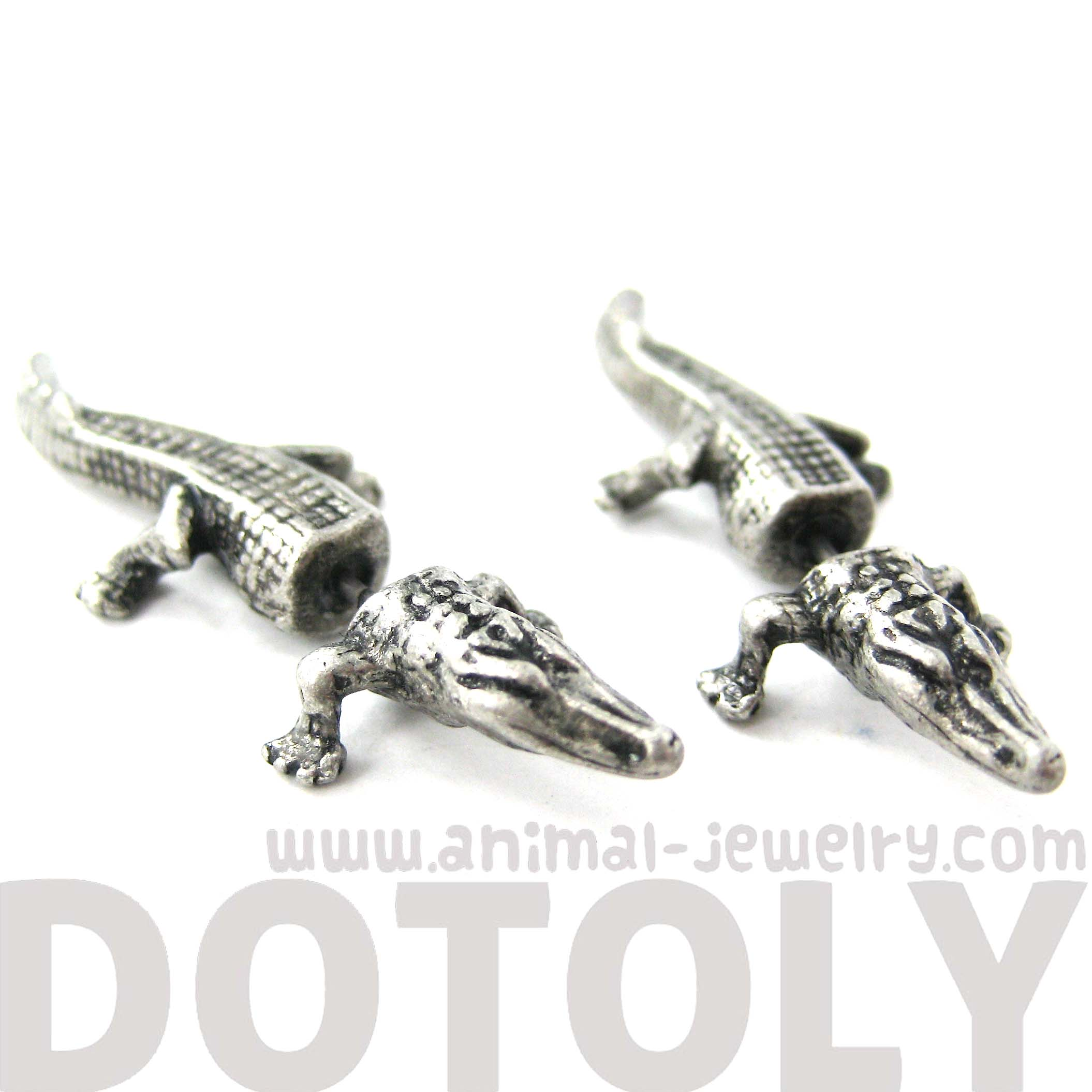 Unique Fake Gauge Crocodile Alligator Animal Stud Earrings ...