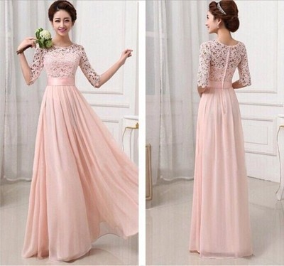 long bridesmaid dress, lace bridesmaid dress, cheap prom dress ...
