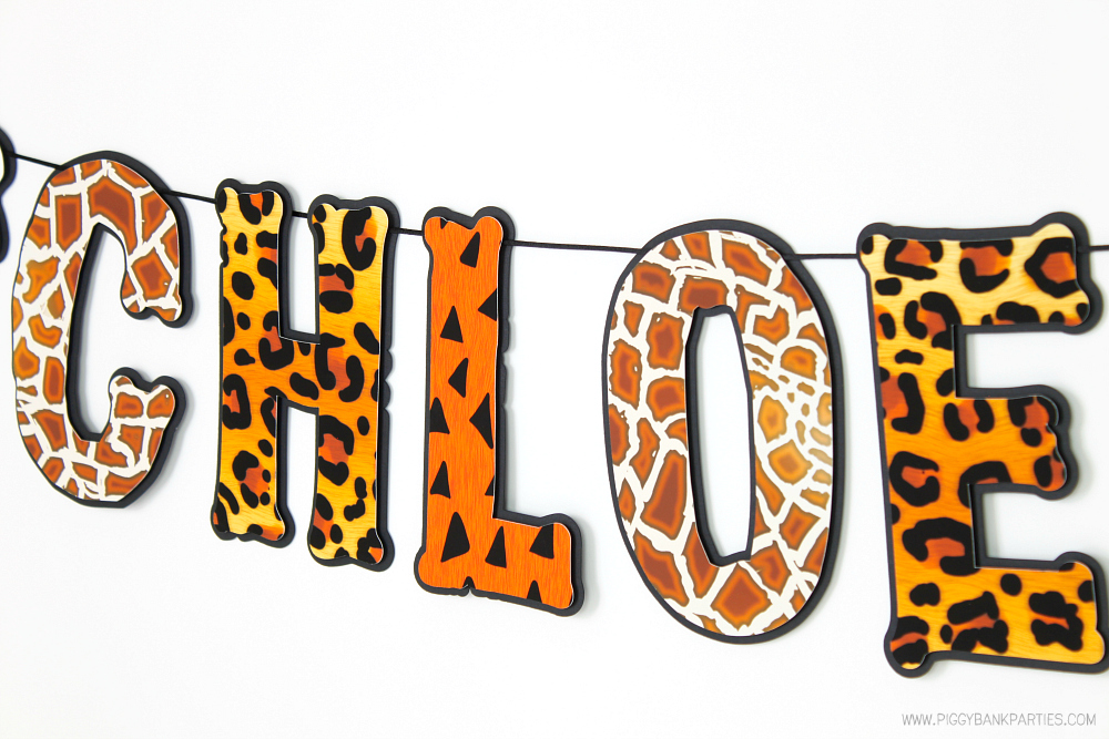 ... Birthday Party Decoration  Zoo Party Banner  Prehistoric Garland