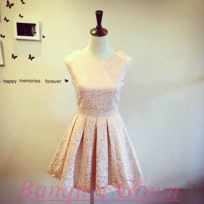 Pretty Light Pink Short Party Dresseslovely Prom Dressesbridesmaid