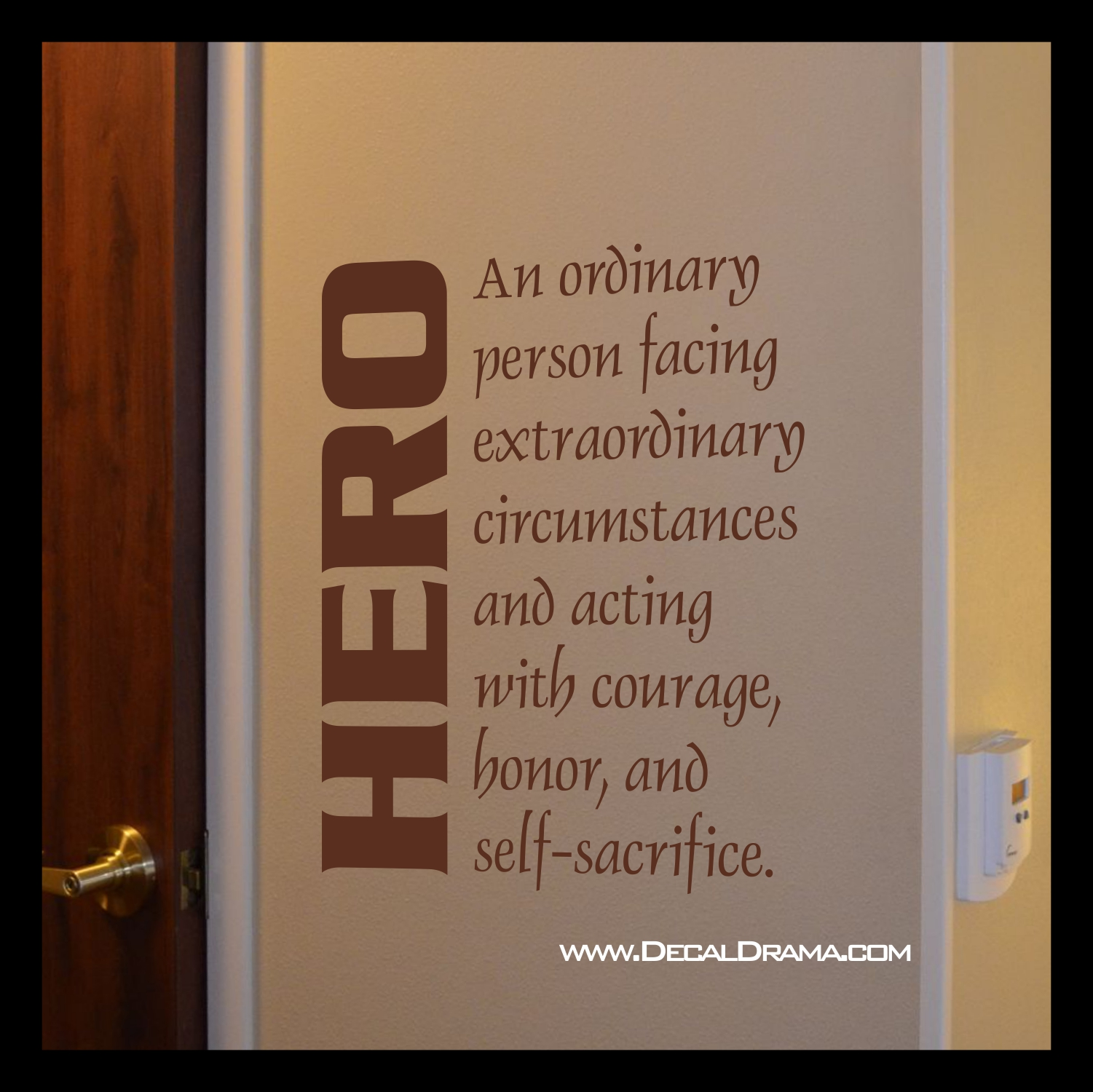 Decal Drama 183 Hero Definition An Ordinary Person Facing