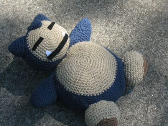 Amigurumi Pokemon Snorlax : CraftOtaku.com