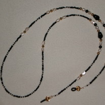 Beaded Eyeglass Chain Black/White/Pearl/Gold (Spec. Order)
