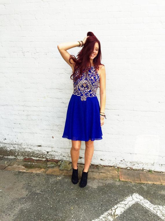 Royal Blue Homecoming Dress Short Prom Dresses pst0919 · BBDressing ...