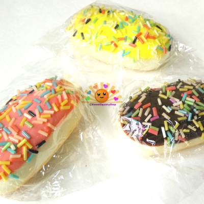 sprinkled scented eclair squishy with cell phone strap