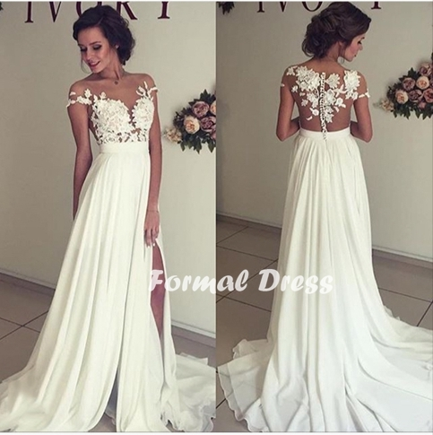 Formal Dress | Elegant white prom dress,A-